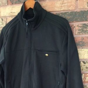 Adidas Large All Black Track Jacket Full Zip Men's